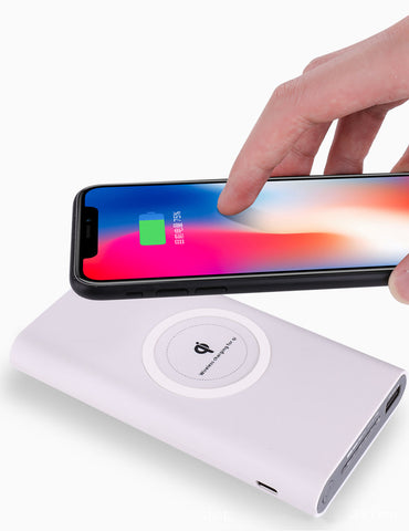 Portable 10000mAh Power Bank Qi Wireless Charger - Simple Little Life Hacks