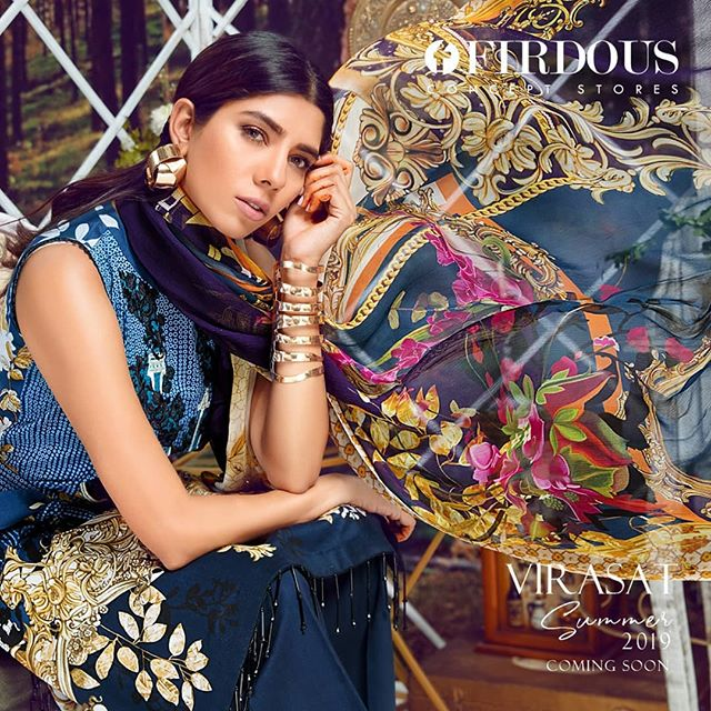 Firdous Virasat Summer Lawn '19 www.wishcart.in
