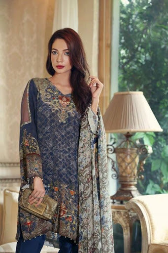 Noor Silk party wear Unstitched suit@wishcart.in