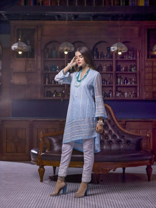Wishcart-PakistaniKurtis-Azure Luxury Embroidered Exclusive Kurits Vol 5 - Charmed Aura D10
