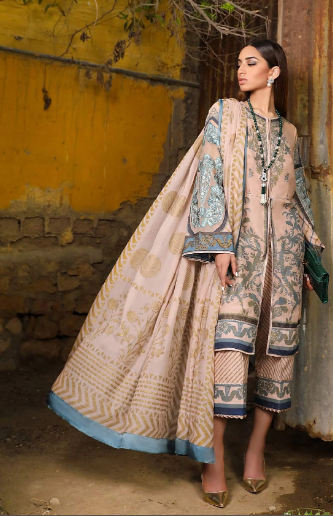 Sana Safinaz Kurnool Lawn Original Pakistani Dresses and Suits 11A Wishcart.in