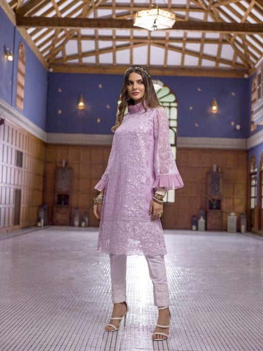 Wishcart-Pakistanisuits-Azure Luxury Embroidered Exclusive Kurits Vol 5 - Lavender Dreams D12