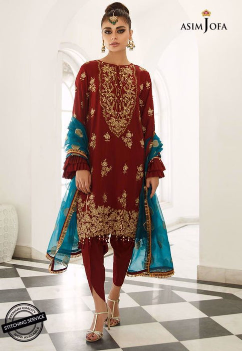 Wishcart-Pakistanisuits-Zartaar Collection by Asim Jofa 2019 AJZ-06