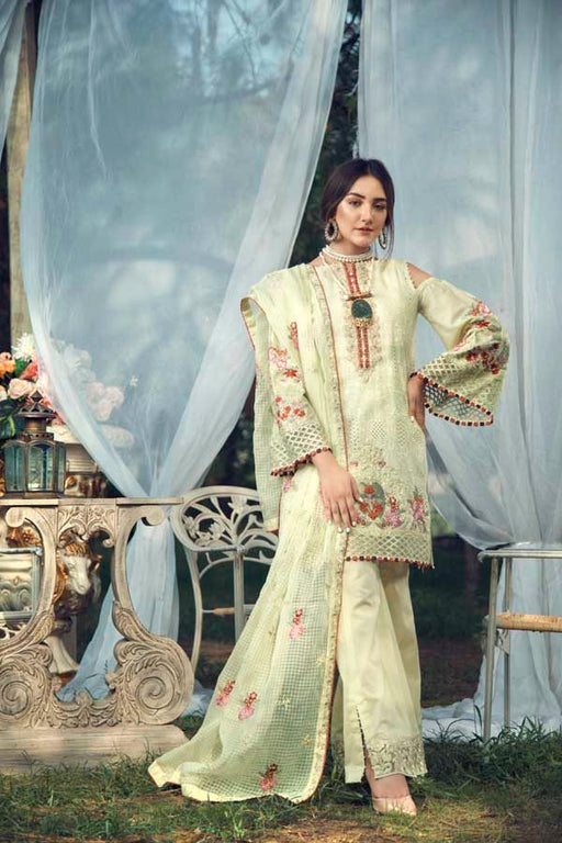 Wishcart-Pakistanisuits-La Chantelle by Adan's Libas 2019 Collection LIMEYELLOW GREEN