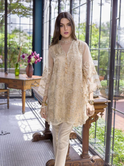 Wishcart-PakistaniKurtis-Azure Luxury Embroidered Exclusive Kurits Vol 5 - Agaste Gold D05