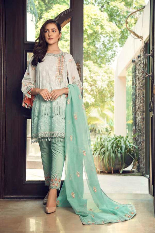 Wishcart-Pakistanisuits-La Chantelle by Adan's Libas 2019 Collection SEAFOAM GREEN