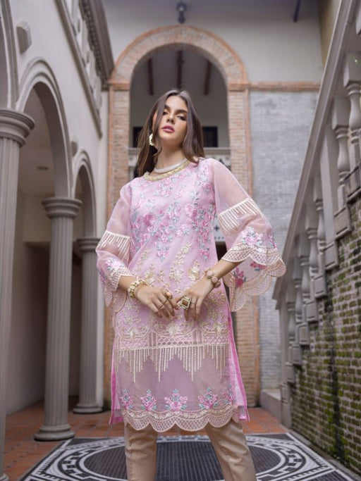 Wishcart-PakistaniKurtis-Azure Luxury Embroidered Exclusive Kurits Vol 5 - Belle Rose D07