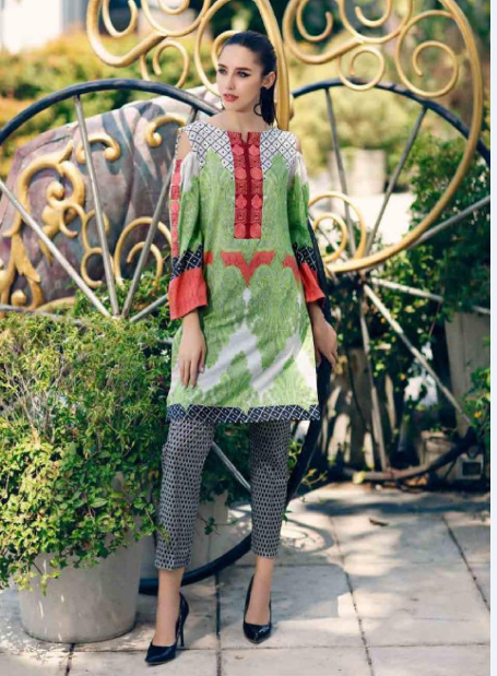 Casual/party wear printed suit by Charizma Belle@wishcart.in