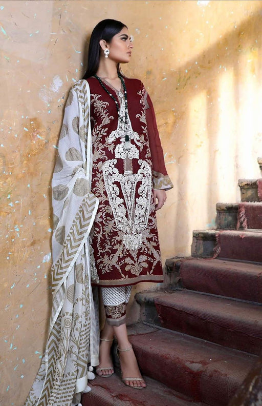 Sana Safinaz Kurnool Lawn Original Pakistani Dresses and Suits 8A1 Wishcart.in