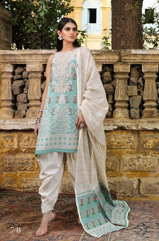 Sana Safinaz Kurnool Lawn Original Pakistani Dresses and Suits 9A1 Wishcart.in