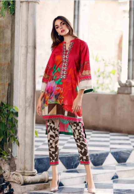 Printed designer suit by Charizma Belle@wishcart.in