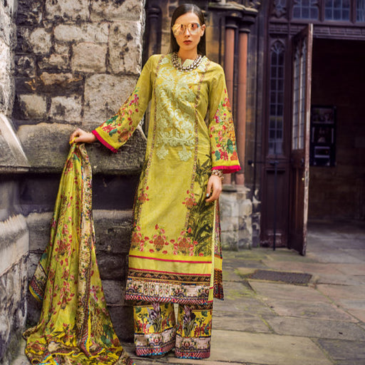 Honey Waqar Festive Luxury Lawn Original A22 Wishcart