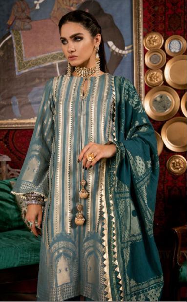 Cross Stitch Royal Secret Original Pakistani Dresses & Suits Wishcart - wishcart.in