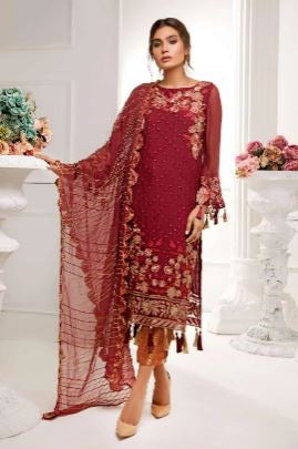wishcart-Pakistanisuits-Cataleya Chiffon Collection by Iqra Reza-CA02