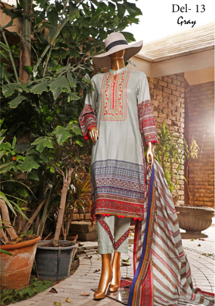 Wishcart-Pakistanisuits-Diamond Embroidered Collection Del 13 Grey
