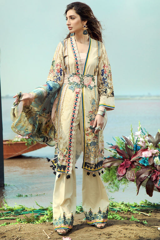 Firdous Grandeur Luxury Lawn Collection 2020 LL 19545