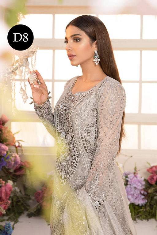 MARIA. B Mbroidered Unstitched Eid 2021 – Design D8