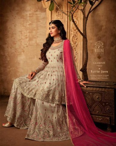 Mohini Glamour Vol 71 Party Wear Net Embroidered Dress - 71002