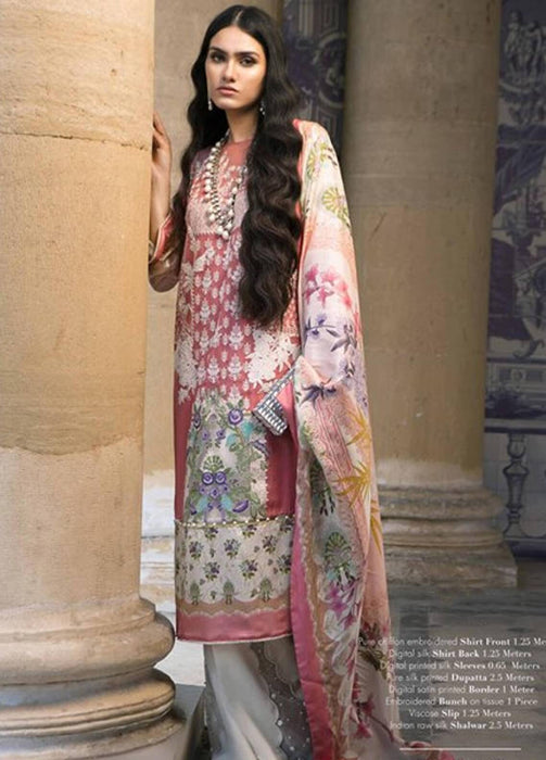 Sana Safinaz Silk Unstitched Silk Chiffon Suit