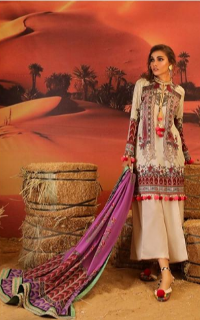 Mahay '19 Original Pakistani Dresses & Suits Collection by Sana Safinaz 15 Wishcart.in