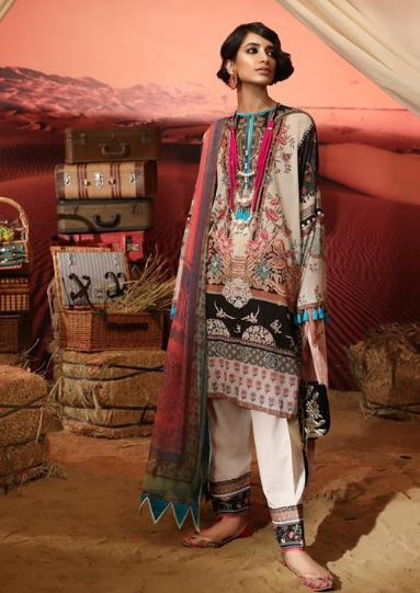 Mahay '19 Original Pakistani Dresses & Suits Collection by Sana Safinaz 6 Wishcart.in