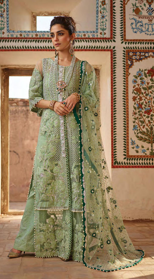 Wishcart-pakistanisuits-Saira shakira Crimson Nawab Dresses 2019--D4-A Applique- Sea Green