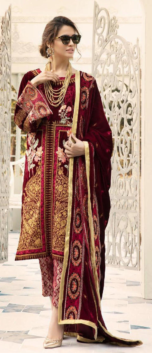 Wishcart-Pakistanisuits-Shaista Embroidered Velvet Dresses 2019- SVC-297-01
