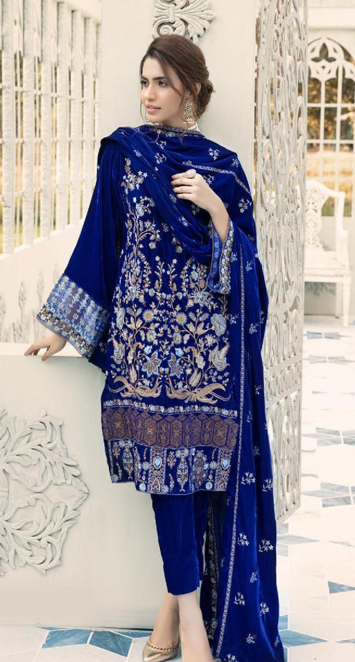 Wishcart-Pakistanisuits-Shaista Embroidered Velvet Dresses 2019- SVC-299-01
