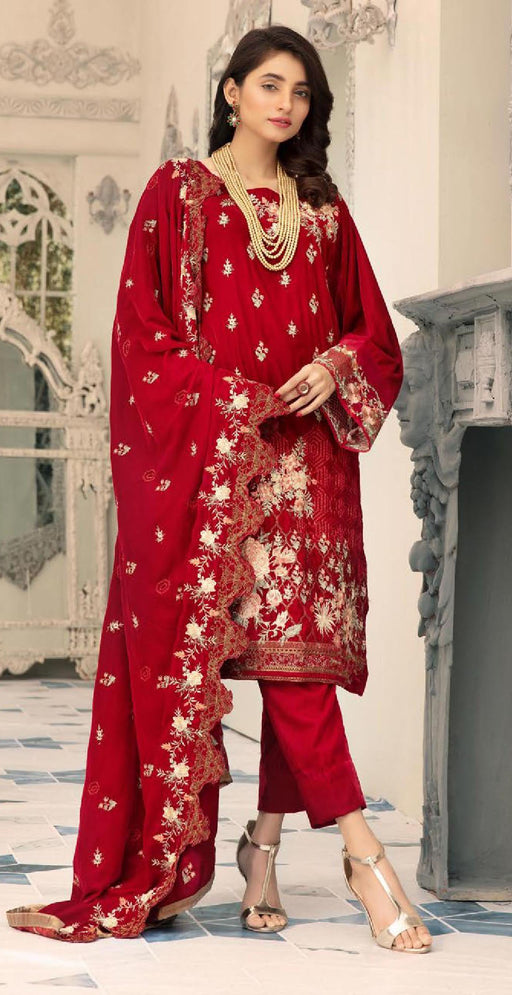 Wishcart-Pakistanisuits-Shaista Embroidered Velvet Dresses 2019- SVC-300