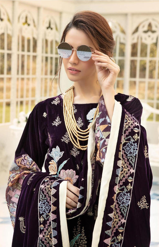 Wiscart-Pakistanisuits-Shaista Embroidered Velvet Dresses 2019- SVC-301-01