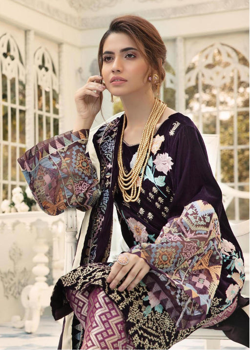 Wishcart-Pakistanisuits-Shaista Embroidered Velvet Dresses 2019- SVC-301
