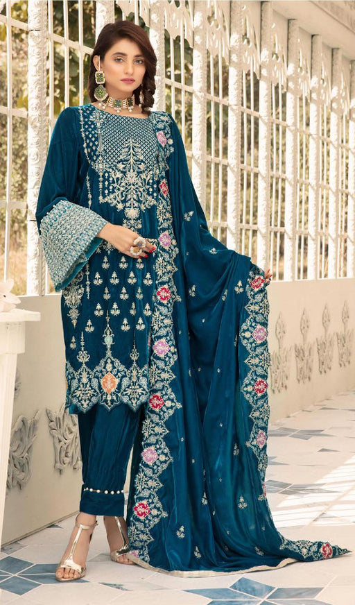 Wishcart-Pakistanisuits-Shaista Embroidered Velvet Dresses 2019- SVC-302-01