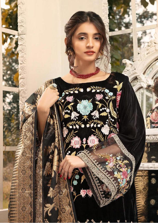 Wishcart-Pakistanisuits-Shaista Embroidered Velvet Dresses 2019- SVC-304