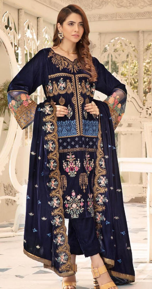 Wishcart-Pakistanisuits-Shaista Embroidered Velvet Dresses 2019- SVC-305-01