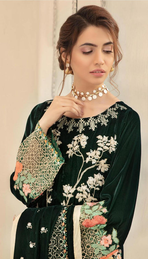 Wishcart-Pakistanisuits-Shaista Embroidered Velvet Dresses 2019- SVC-309-01