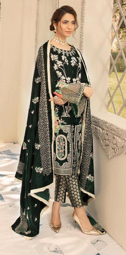 Wishcart-Pakistanisuits-Shaista Embroidered Velvet Dresses 2019- SVC-309