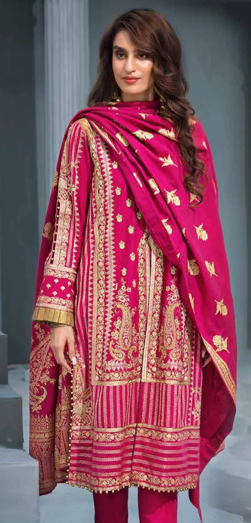 wishcart Pakistanisuits collactions Poshak e Chinar Shawl Dresses 2019 by Gul Ahmed-AY08