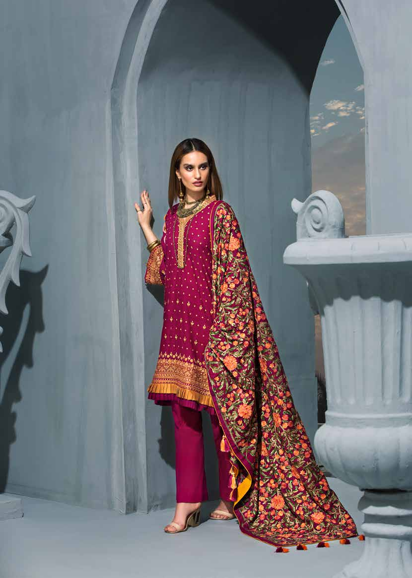 Gul Ahmed Poshak e Chinar Shawl Suits
