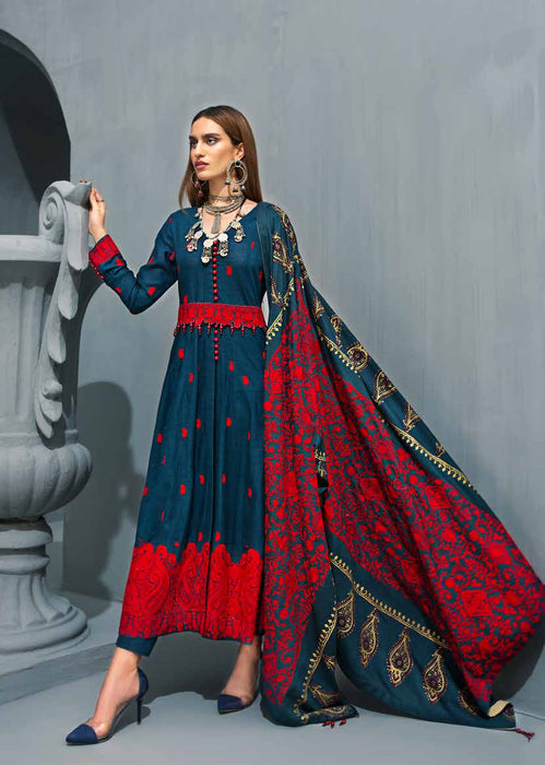 wishcart Pakistanisuits collactions Poshak e Chinar Shawl Dresses 2019 by Gul Ahmed-AYE07