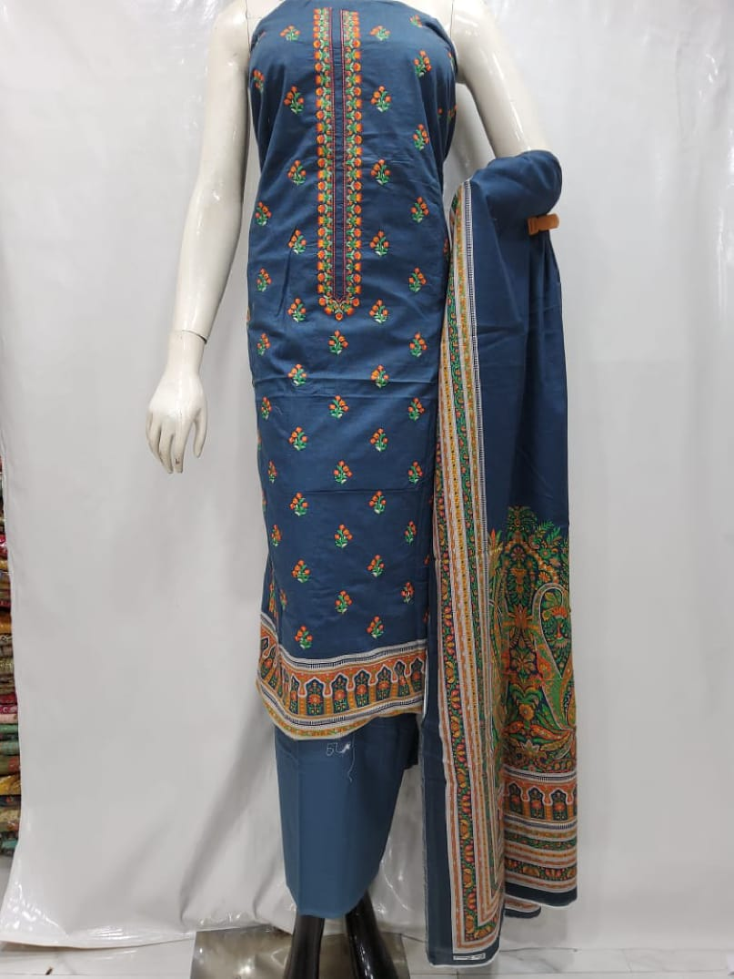 BIN SAEED EMBROIDERED LAWN 2020 3PCS SUIT