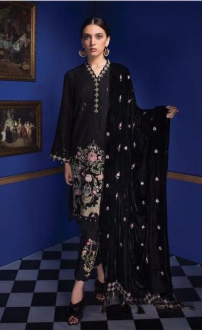 Wishcart-Pakistanisuits-Sapphire Festive Dresses 2019 - Valley Smoke