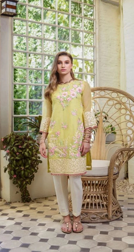 Azure Ensembles Hand Embellished Festive 2019 Collection Daffodils – E01 HOT