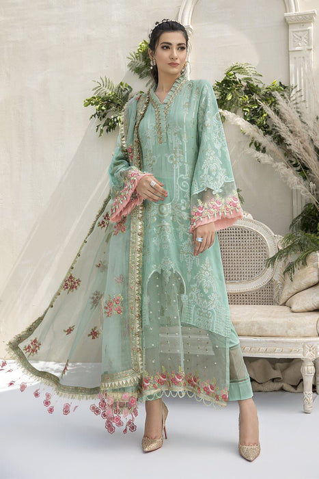 Maria B Sateen Unstitched 2020 CST- 308 Sea Green