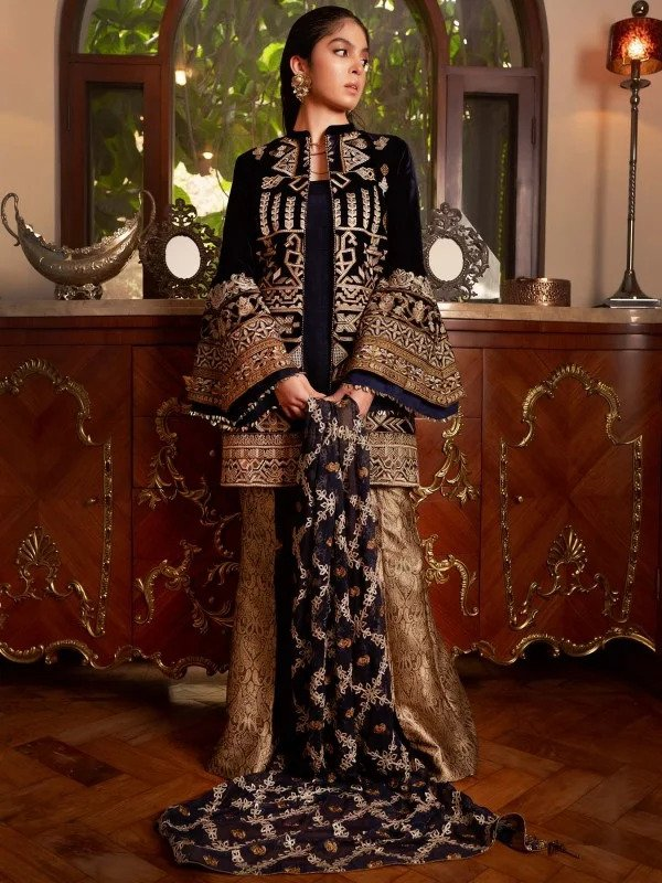 AIK Atelier Inaara Velvet Embroidered Suits 2019