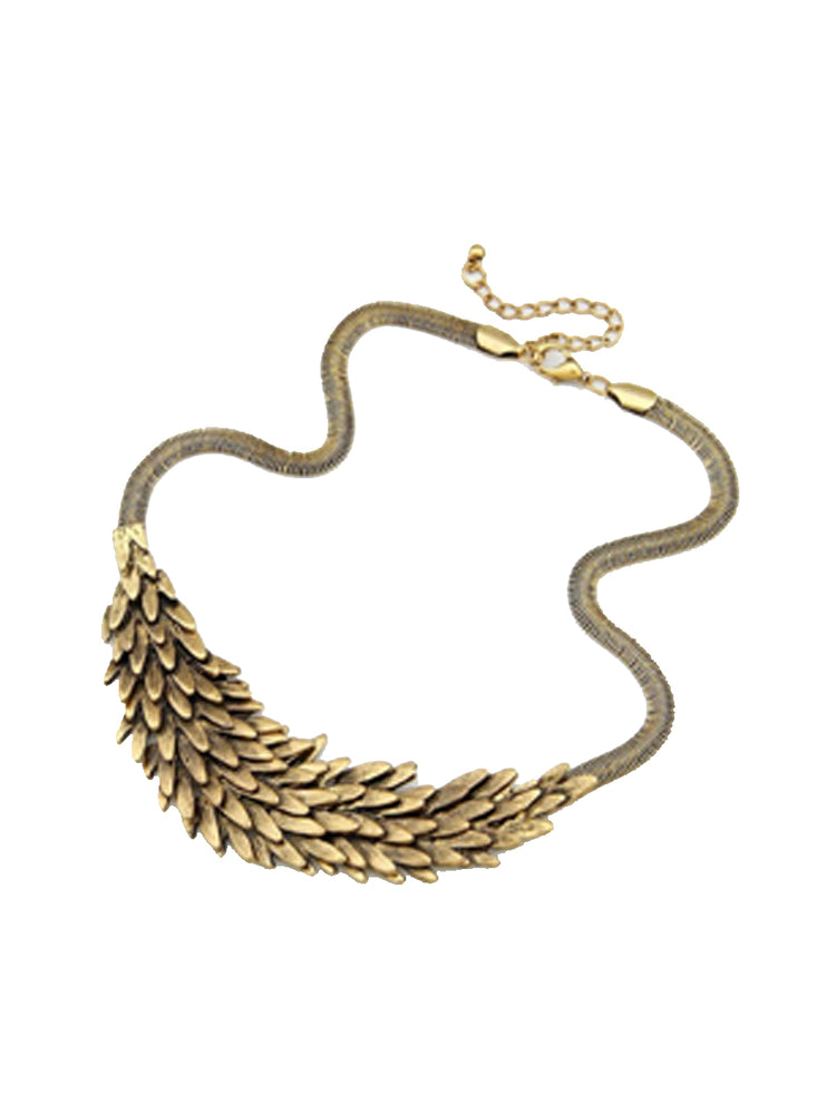 Ancient Feather Angel Short Necklace - wishcart.in