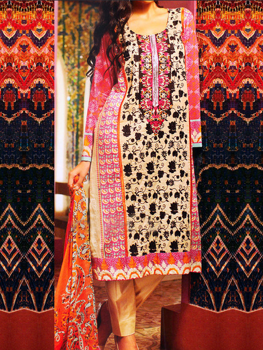 Kalyan Lawn Original Pakistani Dresses & Suits Suits Collection - 01 wishcart.in