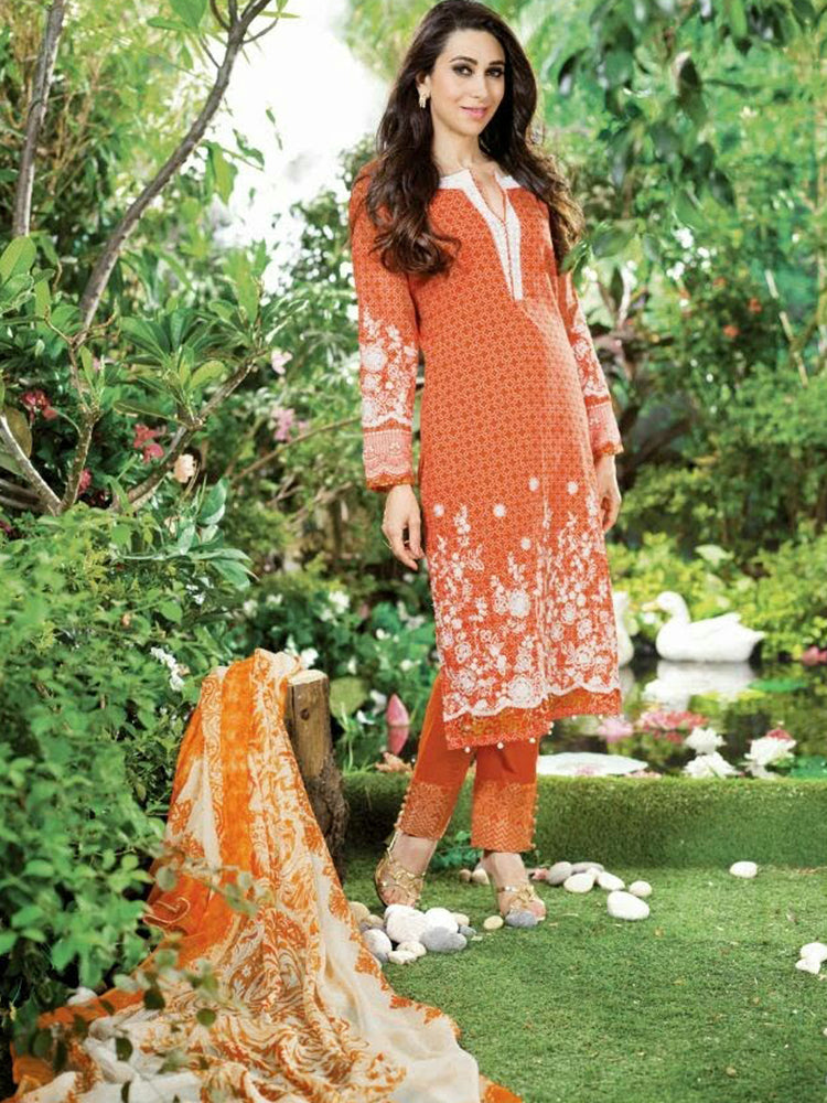 Habiba Cotton embroidered Suit@wishcart.in