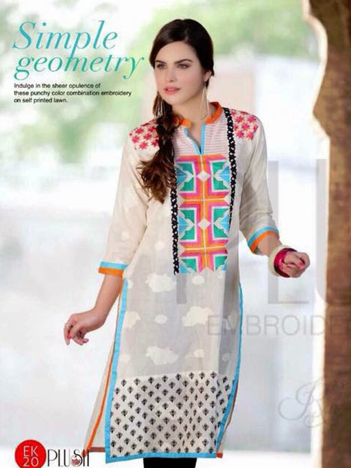 EMBROIDERED SWISS VOIL KURTI@wishcart.in