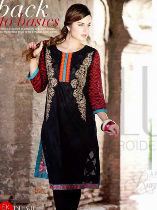 Unstitched kurti with Embroidery@wishcart.in