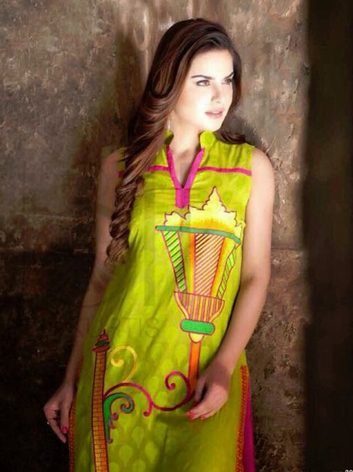 Unstitched embroidered kurti@wishcart.in